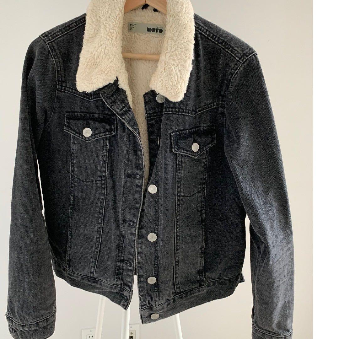 Tophop Faux Sherling Denim Jacket - Women's US 6 / UK 10