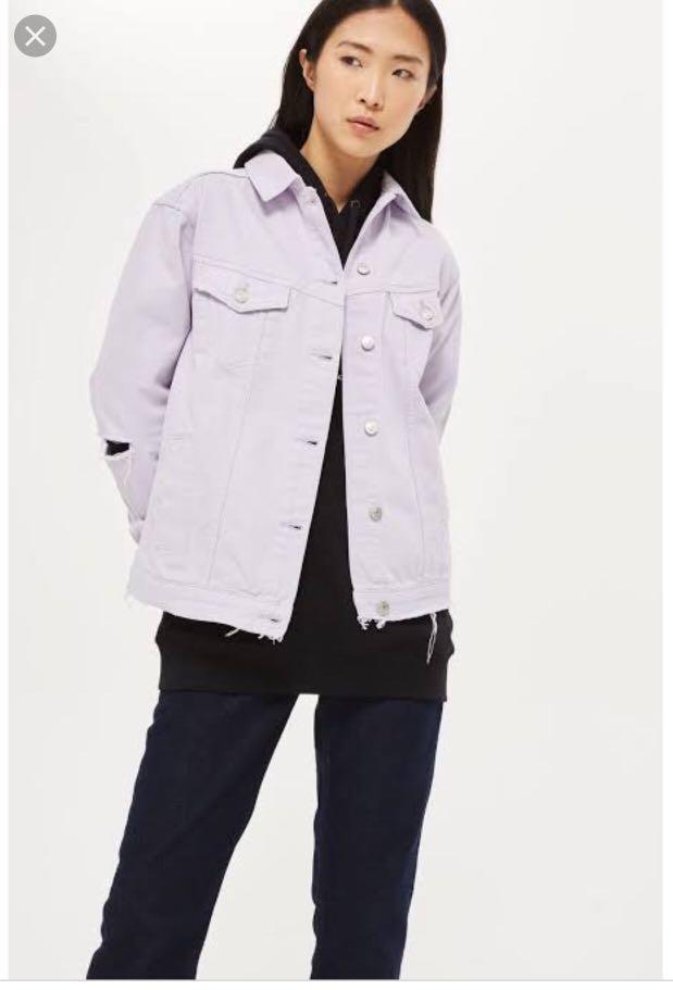 TOPSHOP Lilac Denim Jacket
