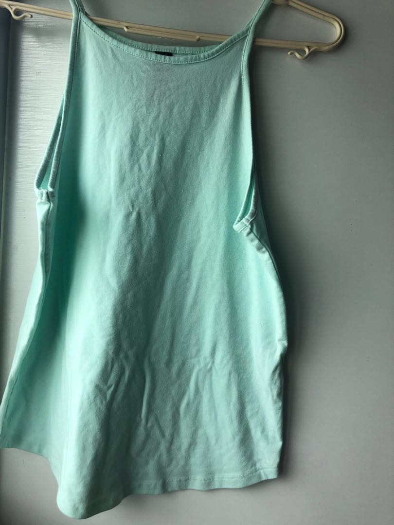 10b5df5b297 Turquoise factorie halter spaghetti strap top