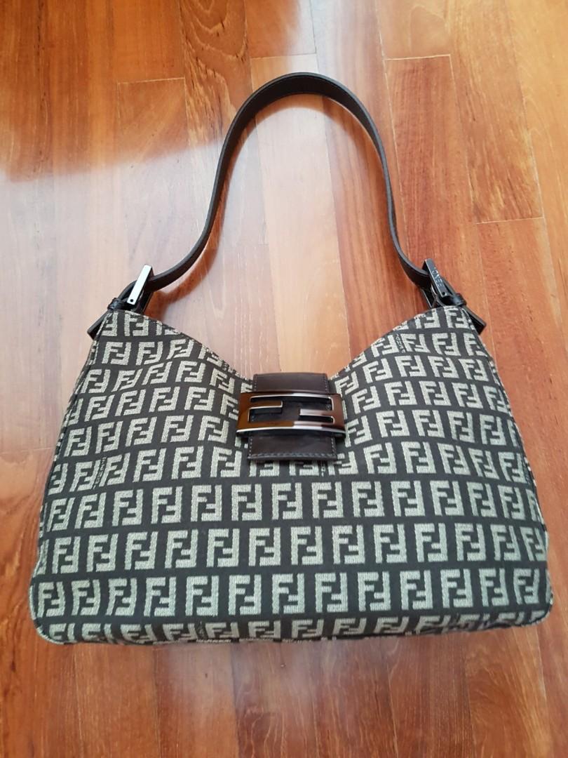 e6d6f7eb8c4 Vintage Fendi Monogram Hobo Zucchino Shoulder Bag, Women's Fashion, Bags &  Wallets, Handbags on Carousell