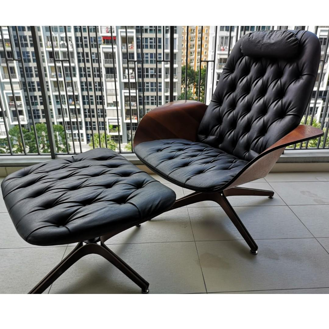 Terrific Vintage Mid Century Modern Mr Chair Lounge Chair And Ottoman Beatyapartments Chair Design Images Beatyapartmentscom