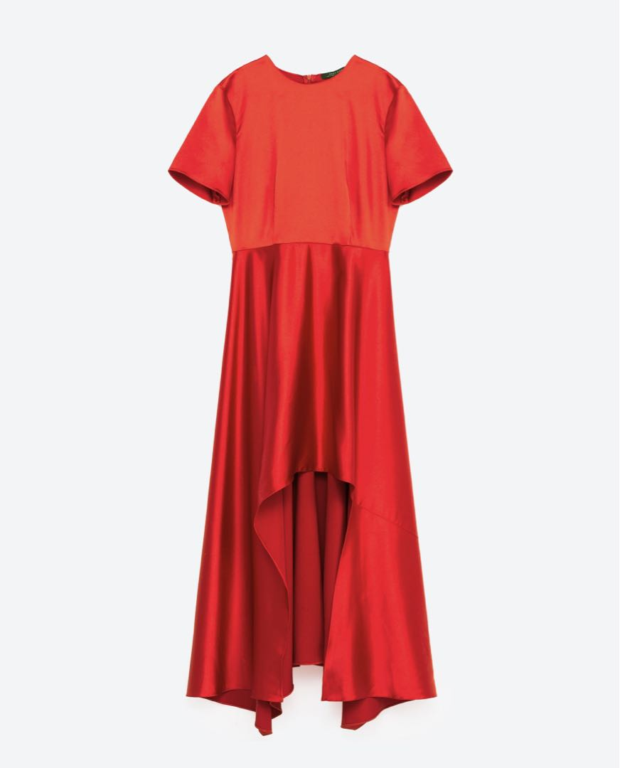 58b025d4ec Zara Sateen Gown, Women's Fashion, Clothes, Dresses & Skirts on ...