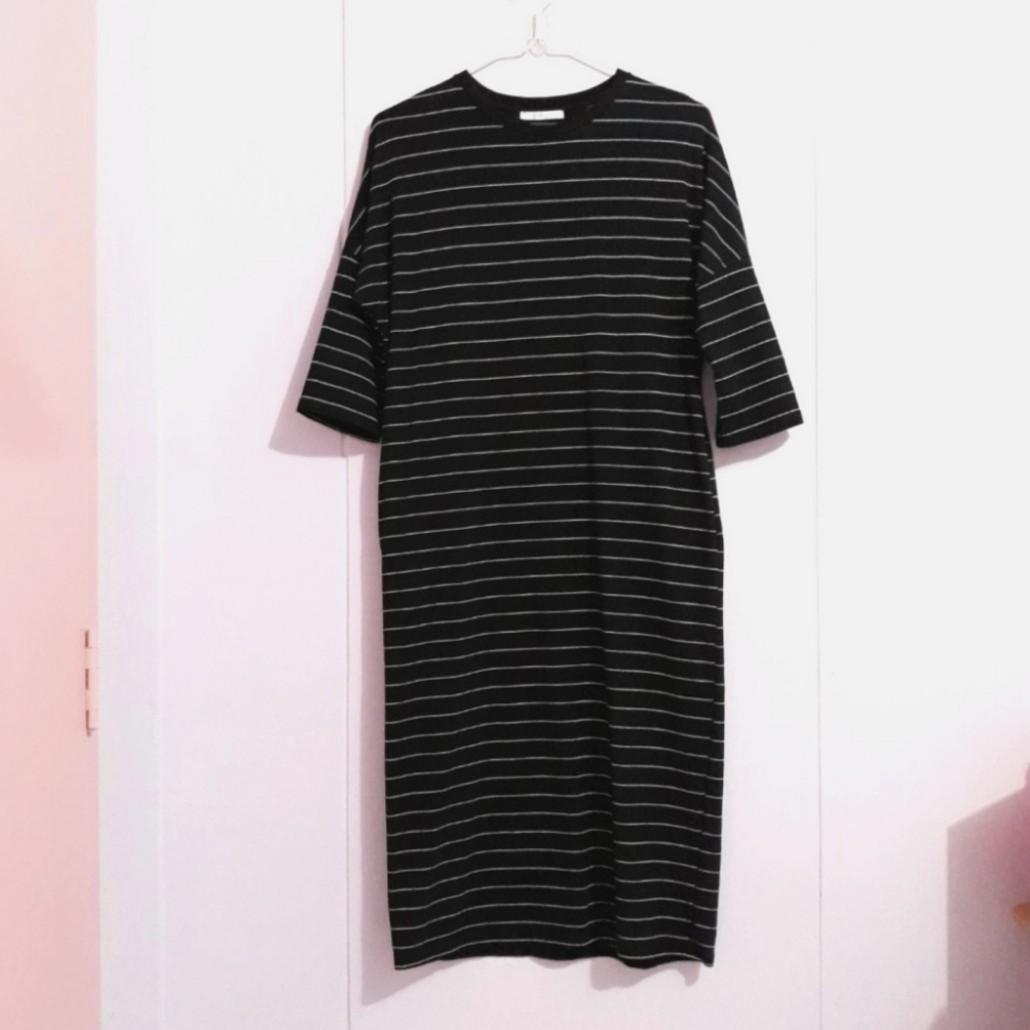 3b2e19178e ZARA TRF Stripes Midi Tee Dress, Women's Fashion, Clothes, Dresses ...
