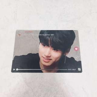 bts jungkook big transparent card inspired by vlive