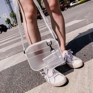 🚚 PO: Translucent PVC Sling Bag