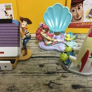 胡迪toy story 對講機手機座手機架筆筒