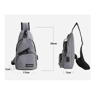 Sports And Leisure USB Charging Messenger Bag