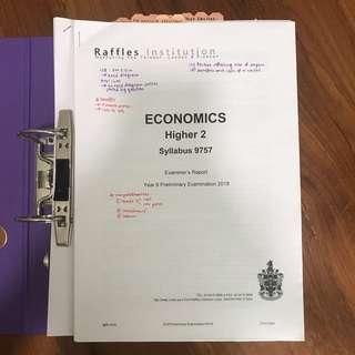 RI raffles institution econs examiner's report