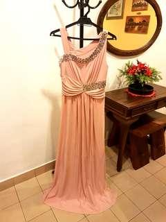 Colours Bejeweled Gown in Pink