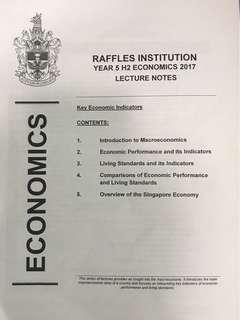 RI raffles institution econs notes