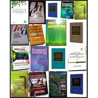 ACCOUNTING BOOKS / LAW BOOKS / REVIEWER