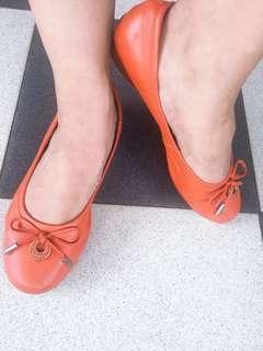 Everbest Orange Flat Shoes