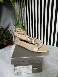 Charles keith flat open toe sandal