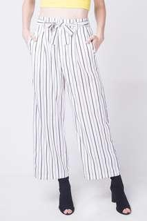 Penshoppe Striped Paperbag Trousers