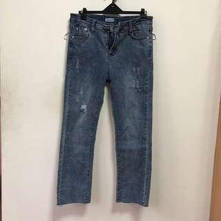 🚚 全新✨微寬牛仔褲 L