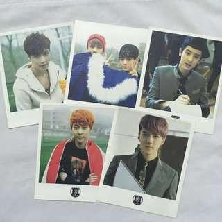 EXO Official XOXO Wolf polaroids