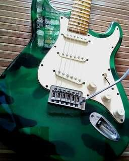 Electric Guitar Stratocaster Camoflage