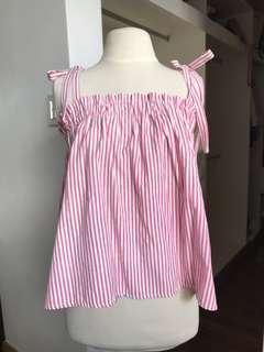 Blush Striped Top
