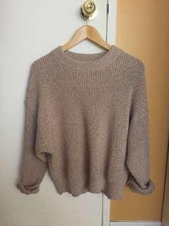 Uniqlo beige dolman sleeve knit sweater