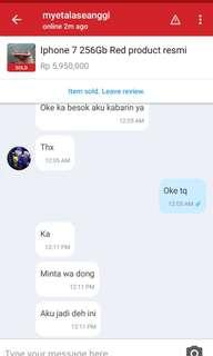 Sold out iphone 7 256 red product tanpa basa basi
