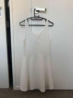 White/Creme Dress Size 6 from H&M