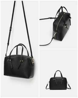 Zara mini city bag nwt black