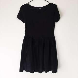 Black Babydoll Skater Dress