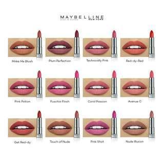 Maybelline lipstick creamy matte powder original
