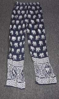 Blue and White Elephant Pants