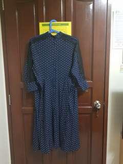 SALE Zara Blue Polka Dots Dress