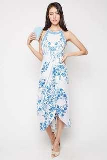 Mds porcelain floral maxi dress
