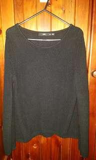 Sportsgirl black knit jumper xs