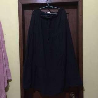 [REPRICED] Navy Blue Maxi Skirt