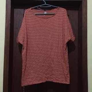 [REPRICED] Striped Orange Shirt