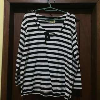 [REPRICED] Striped Longsleeves with Bow