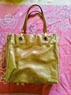 Preloved Glitter Gold Bag