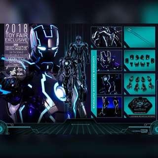Hot Toys Neon Tech Iron Man Mark IV [Toy Fair Exclusive] MMS485D24 MISB Brown Box & Ready