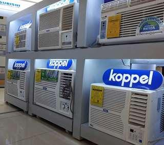 Koppel Window Type Aircons For Sale! .6hp to 2.5hp