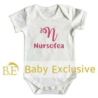Romper Nama Baby Gred A+ Putih @Shopee