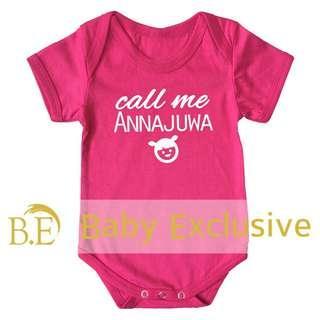 Romper Nama Baby Gred A+ Fuschia 01 @Shopee