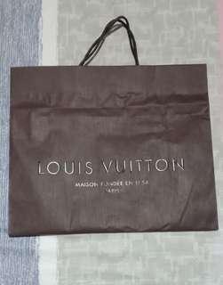 LV paperbag Authentic size L