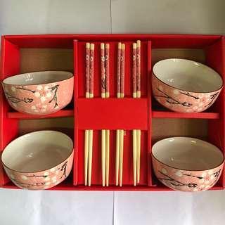 粉紅色碗筷套裝