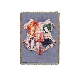 🔥Houses Together Woven Tapestry Blanket (Harry Potter)