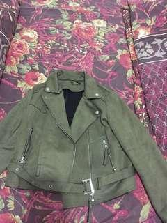 suede jacket army