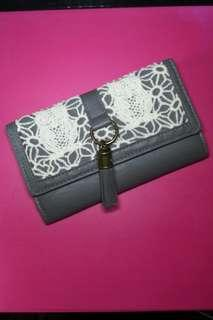 Claire's Knitted Lace Wallet
