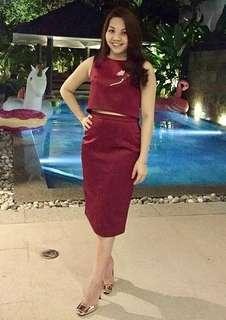 Bythian Bebe Skirt- Red
