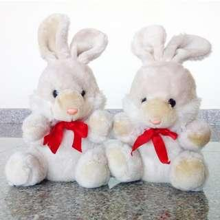 ⭐Vintage pair Couple/Friendship cute Rabbit plush toy 90s #MRTYishun