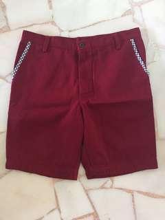On street wear BNWT Maroon shorts