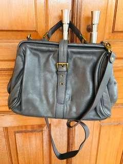 Full Leather Grey Bag (Tas Abu Kulit Asli)
