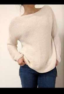 Chunky cream sweater